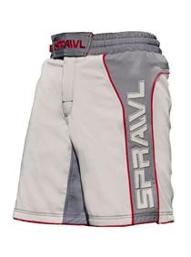 Fusion II Stretch Series Grey and Red MMA Shorts